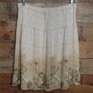 Apostrophe women's 14P neutral floral skirt
